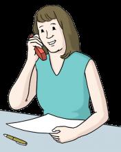 Telefonieren Frau